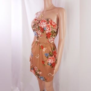 Floral Strapless Dress size 7/8